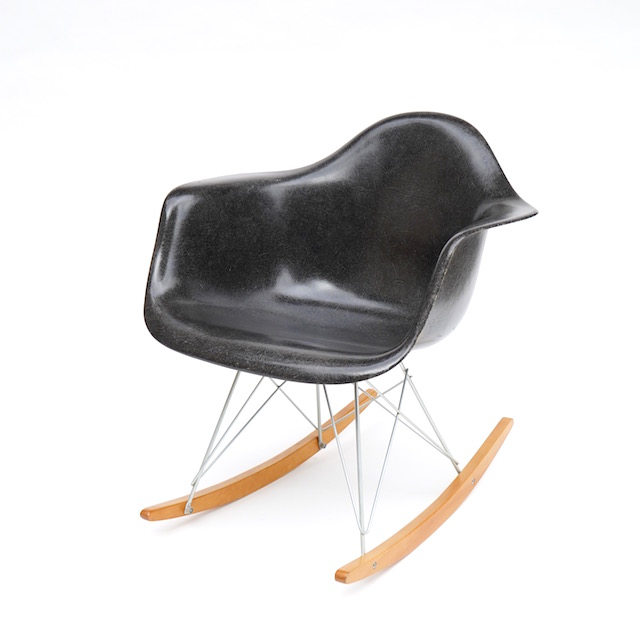 Eames Plastic Arm Chair Rocker Base (1950) BK