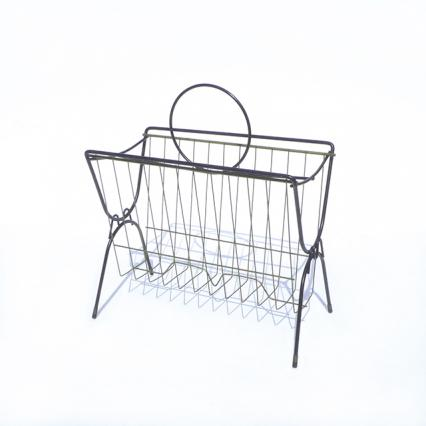 Vintage Wire Magazine Rack#5