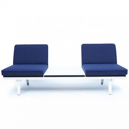 G.Nelson Steel Frame Seating-6' Table Lounge Unit