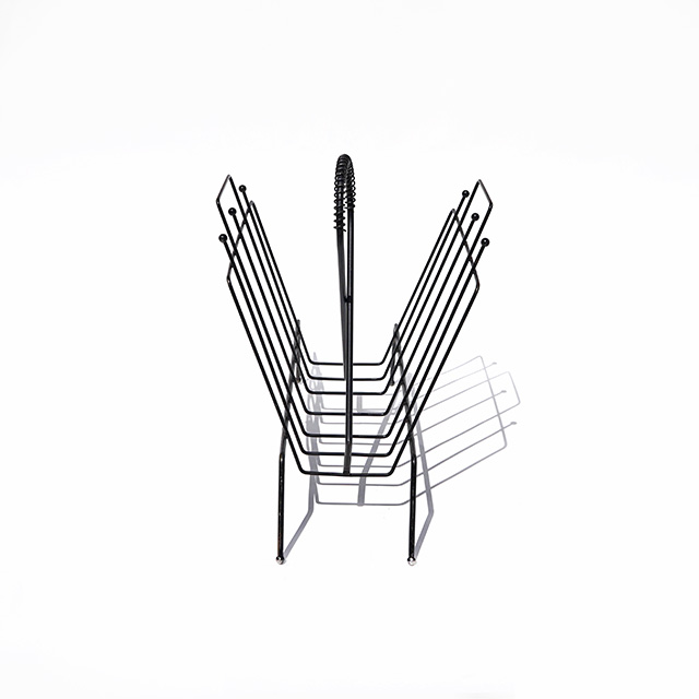 Vintage Wire Magazine Rack#4
