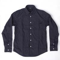 L/S 3c Round Collar Check Shirt
