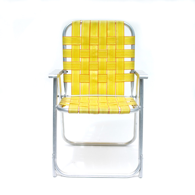 Vintage Folding Chair-Yellow