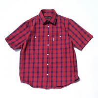 Cotton Twill Check S/S Shirt