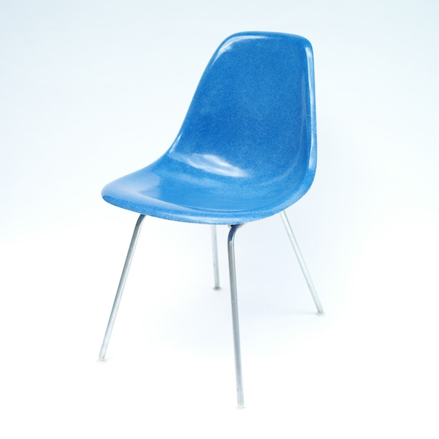 Eames Plastic Side Chair H-Base (1953) BL