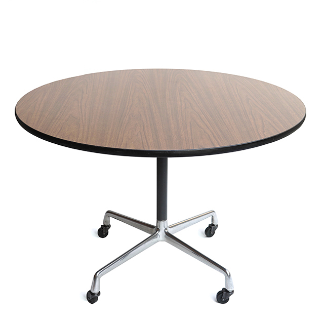 Eames Universal Base Round Mobile Table (1065mm)